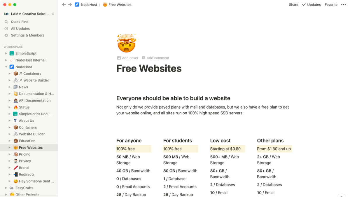 Launched new website : NodeHost : justanthonylee