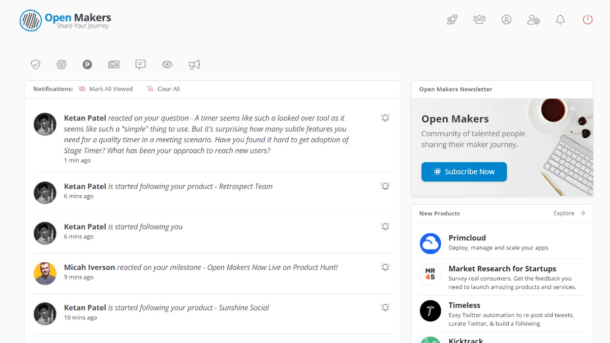 New Feature: Notifications : Open Makers : MicahIverson