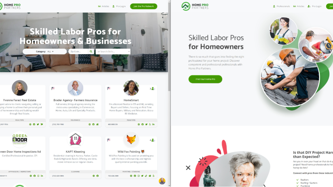 New Landing Page for Home Pro Partners : Home Pro Partners : MicahIverson
