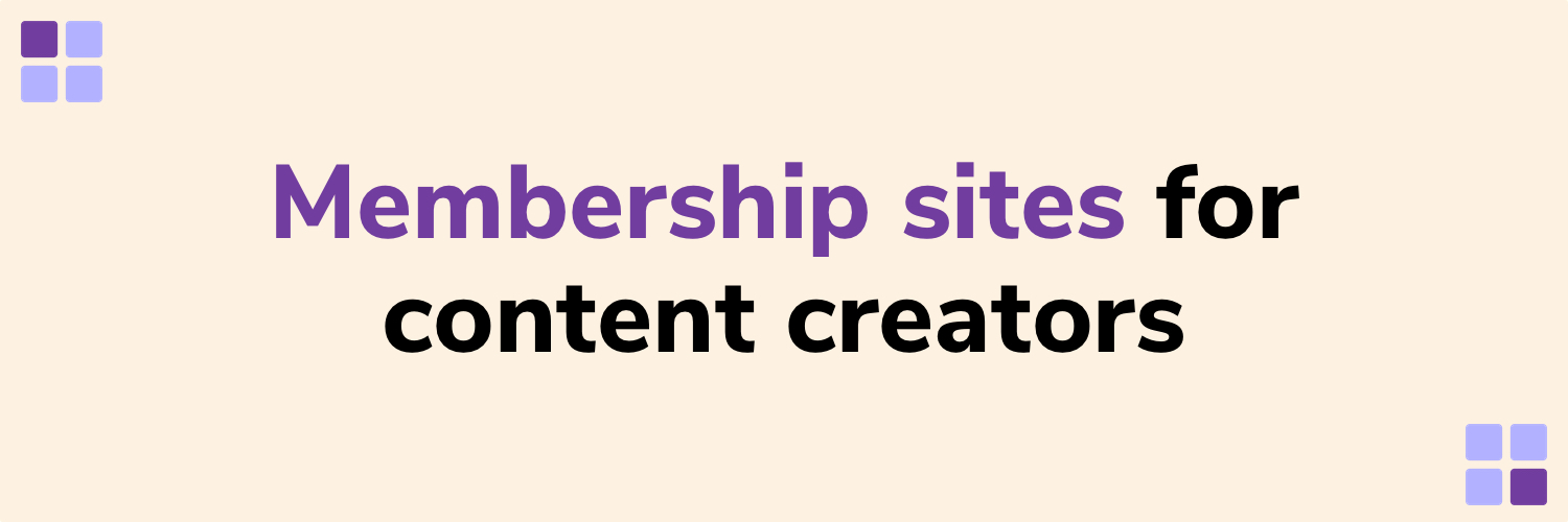 💡 Learning & writing about communities, memberships and WordPress. ⚡️ I help content creators unlock the recurring revenue with a scalable membership site.